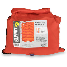 Klymit Insulated Double V Schlafmatte orange